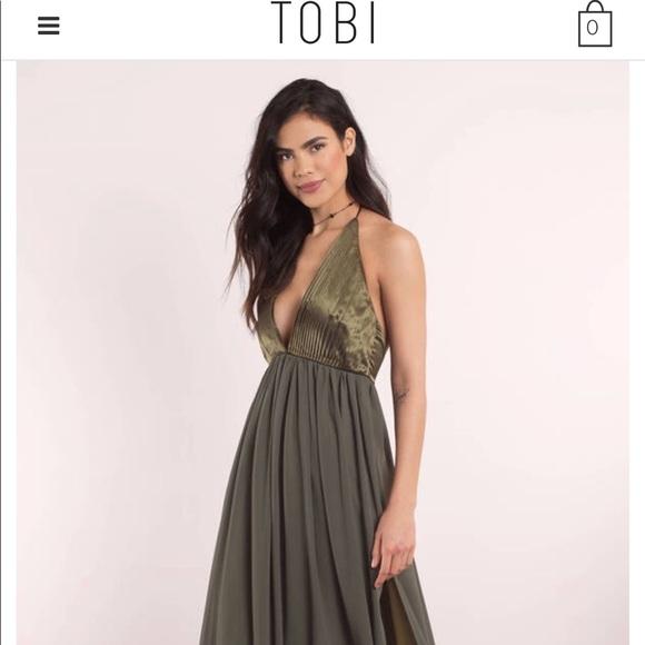 8ca7deeb05e Army Green Tobi Maxi Dress